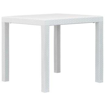 Biały kwadratowy stolik ogrodowy - Deveni