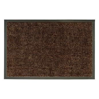 Wycieraczka wewnętrzna Monza 60 x 40 cm brązowa gumowa
