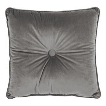 Szara poduszka Tiseco Home Studio Velvet Button, 45x45 cm