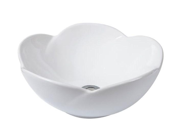VELDMAN UMYWALKA CERAMICZNA ROSE Asymetryczne Szerokość 40 cm Nablatowe Kategoria Umywalki Meblowe Ceramika Kolor Biały