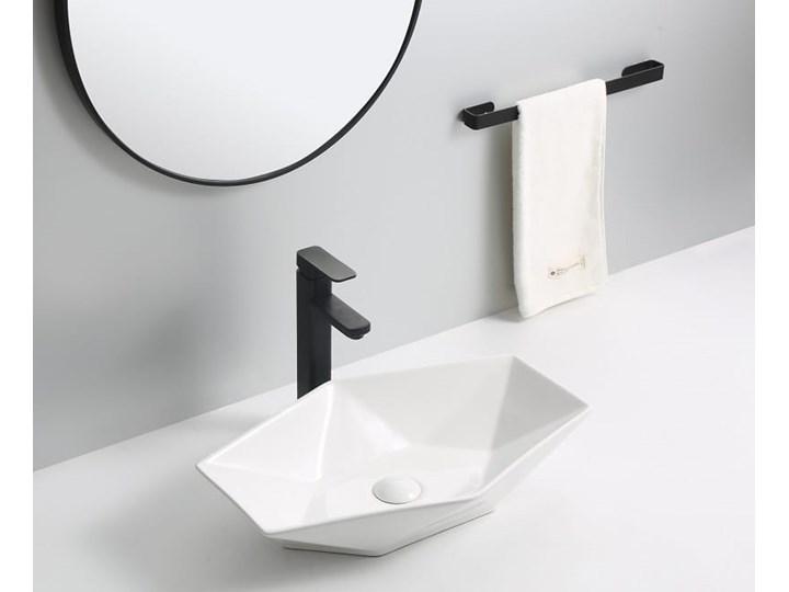 VELDMAN CERAMICZNA UMYWALKA NABLATOWA SONET ROZMIARY Szerokość 57 cm Nablatowe Asymetryczne Kategoria Umywalki Ceramika Meblowe Kolor Biały