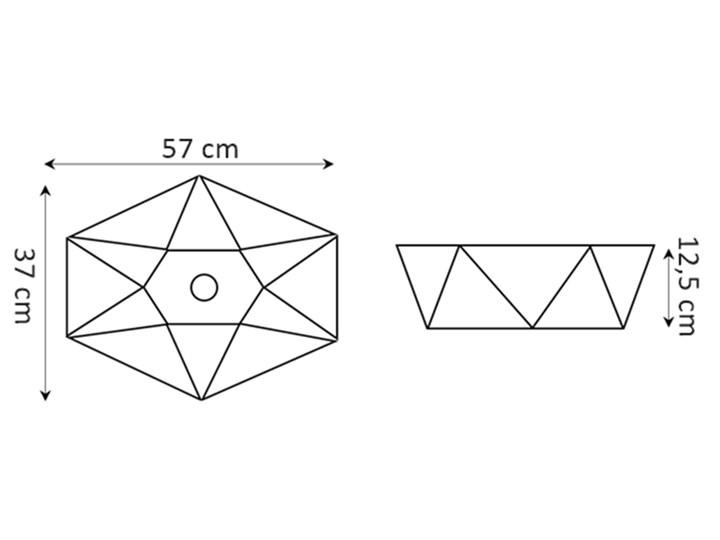 VELDMAN CERAMICZNA UMYWALKA NABLATOWA SONET ROZMIARY Nablatowe Ceramika Meblowe Asymetryczne Szerokość 57 cm Kategoria Umywalki