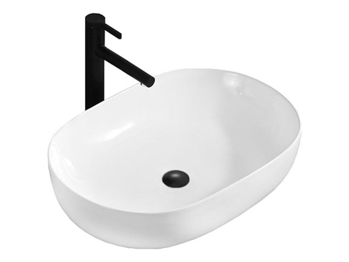 VELDMAN UMYWALKA ANNA SLIM CIENKIE KRAWĘDZIE Szerokość 48 cm Meblowe Owalne Nablatowe Kategoria Umywalki Ceramika Kolor Biały