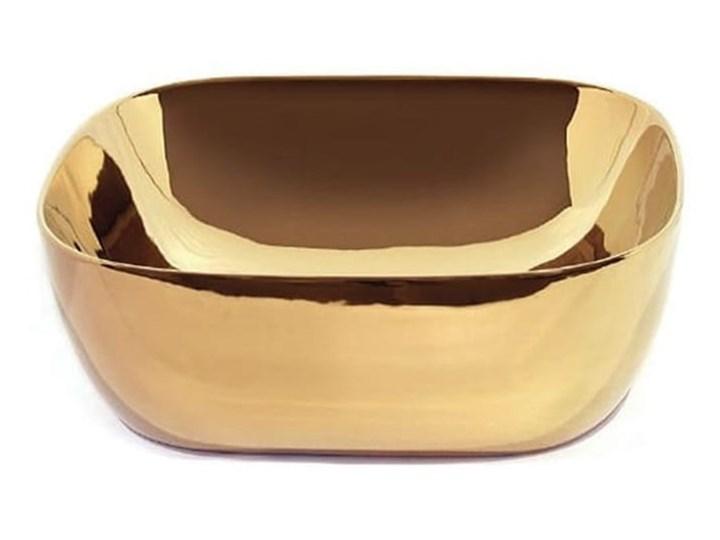 VELDMAN UMYWALKA CERAMICZNA ATLANTA ZŁOTA Meblowe Nablatowe Kolor Złoty Szerokość 43 cm Ceramika Kategoria Umywalki