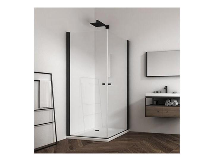 KABINA ATLANTA DUO 8 MM CZARNE PROFILE ROZMIAR DO WYBORU Wysokość 195 cm Kolor Czarny Kategoria Kabiny prysznicowe