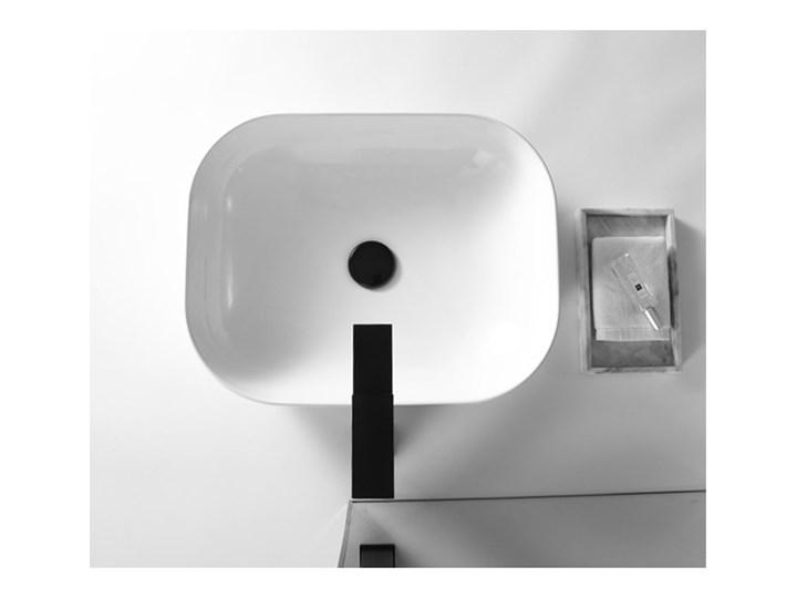 VELDMAN UMYWALKA CERAMICZNA NABLATOWA TOKYO SLIM BIAŁA ROZMIAR DO WYBORU Szerokość 46 cm Prostokątne Nablatowe Ceramika Meblowe Kolor Biały