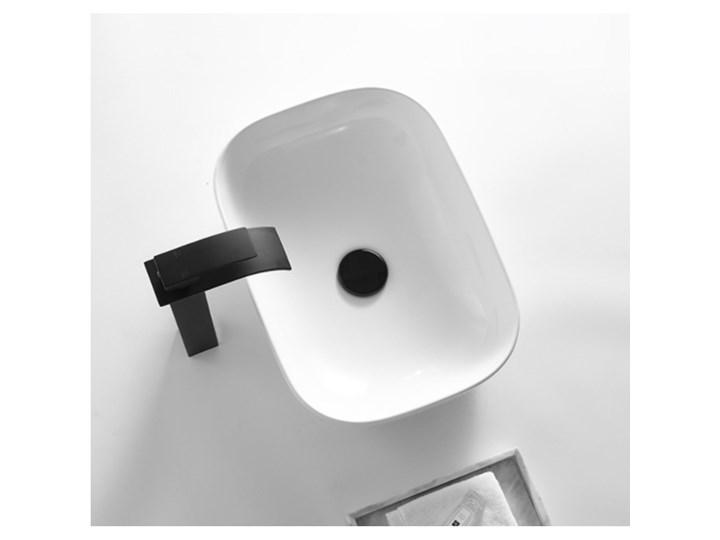 VELDMAN UMYWALKA CERAMICZNA NABLATOWA TOKYO SLIM BIAŁA ROZMIAR DO WYBORU Nablatowe Szerokość 46 cm Prostokątne Meblowe Ceramika Kolor Biały