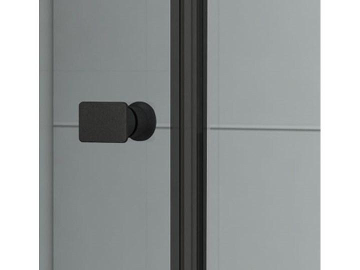 VELDMAN CZARNE PROFILE KABINA NEVADA 8mm ROZMIAR DO WYBORU Wysokość 195 cm Kwadratowa Kolor Czarny