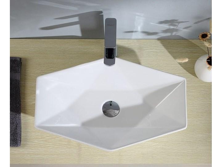 VELDMAN CERAMICZNA UMYWALKA NABLATOWA SONET ROZMIARY Kategoria Umywalki Nablatowe Meblowe Ceramika Szerokość 57 cm Asymetryczne Kolor Biały