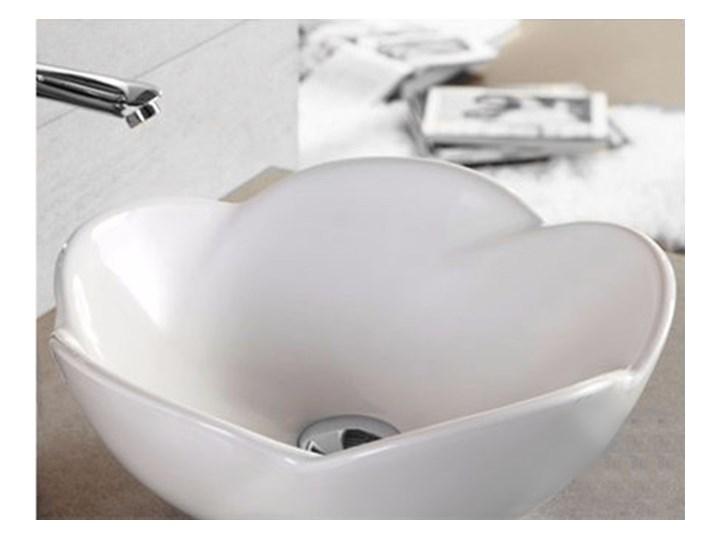 VELDMAN UMYWALKA CERAMICZNA ROSE Meblowe Kategoria Umywalki Szerokość 40 cm Nablatowe Ceramika Asymetryczne Kolor Biały