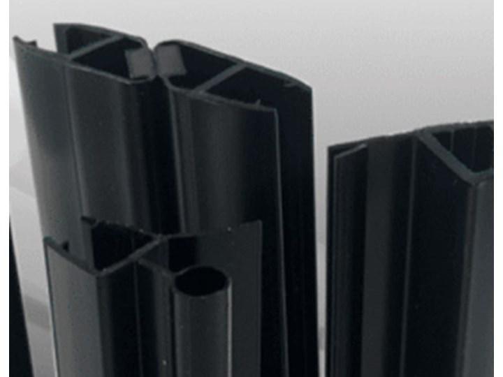 VELDMAN CZARNE PROFILE KABINA B173 ROZMIAR DO WYBORU Wysokość 195 cm Kwadratowa Kolor Czarny