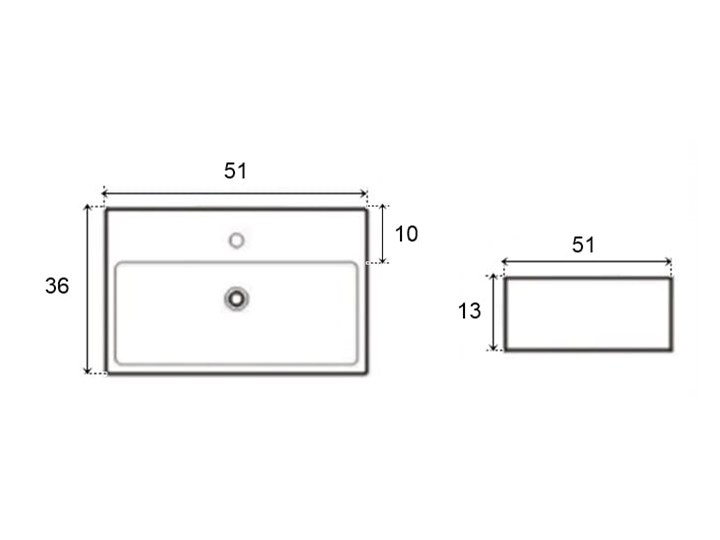 VELDMAN UMYWALKA NABLATOWA METRO Szerokość 50 cm Ceramika Meblowe Nablatowe Kategoria Umywalki