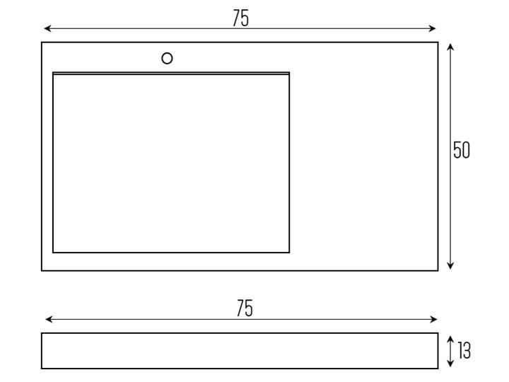 VELDMAN UMYWALKA KONGLOMERAT CASPAR 75x50cm Szerokość 75 cm Podwieszane Nablatowe Szerokość 50 cm Kategoria Umywalki
