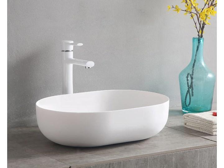 VELDMAN UMYWALKA ANNA SLIM CIENKIE KRAWĘDZIE Szerokość 48 cm Meblowe Ceramika Owalne Nablatowe Kategoria Umywalki