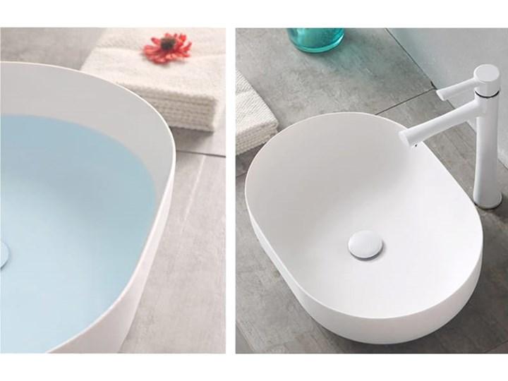 VELDMAN UMYWALKA ANNA SLIM CIENKIE KRAWĘDZIE Szerokość 48 cm Meblowe Nablatowe Ceramika Owalne Kategoria Umywalki