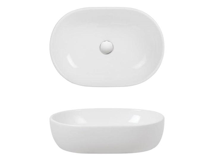 VELDMAN UMYWALKA ANNA SLIM CIENKIE KRAWĘDZIE Owalne Szerokość 48 cm Nablatowe Ceramika Meblowe Kategoria Umywalki