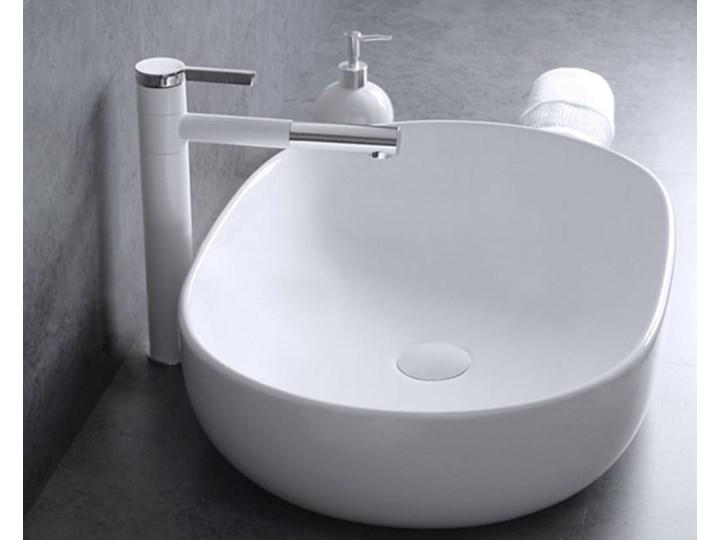 VELDMAN UMYWALKA ANNA SLIM CIENKIE KRAWĘDZIE Szerokość 48 cm Ceramika Meblowe Owalne Nablatowe Kategoria Umywalki