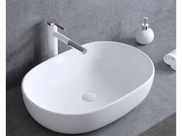 VELDMAN UMYWALKA ANNA SLIM CIENKIE KRAWĘDZIE Szerokość 48 cm Kategoria Umywalki Owalne Ceramika Meblowe Nablatowe Kolor Biały
