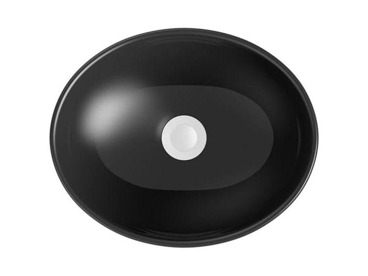 VELDMAN UMYWALKA CZARNA VERA BLACK Owalne Meblowe Szerokość 41 cm Nablatowe Ceramika Kolor Czarny