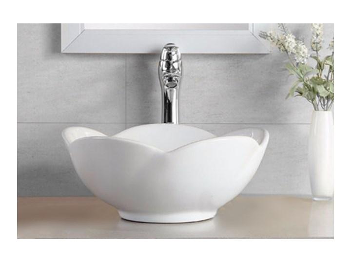 VELDMAN UMYWALKA CERAMICZNA ROSE Asymetryczne Szerokość 40 cm Meblowe Nablatowe Ceramika Kategoria Umywalki