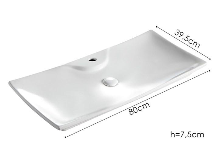 VELDMAN UMYWALKA CERAMICZNA AMADO 80cm Ceramika Meblowe Szerokość 80 cm Nablatowe Kategoria Umywalki