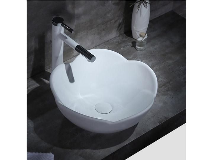 VELDMAN UMYWALKA CERAMICZNA ROSE Asymetryczne Ceramika Szerokość 40 cm Meblowe Nablatowe Kategoria Umywalki