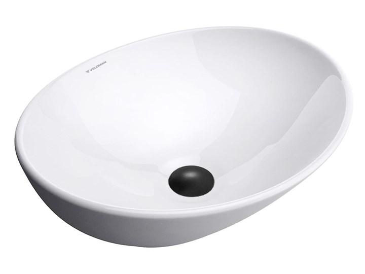 VELDMAN  UMYWALKA CERAMICZNA NABLATOWA VERA Nablatowe Szerokość 41 cm Owalne Szerokość 45 cm Meblowe Kategoria Umywalki Ceramika Kolor Biały