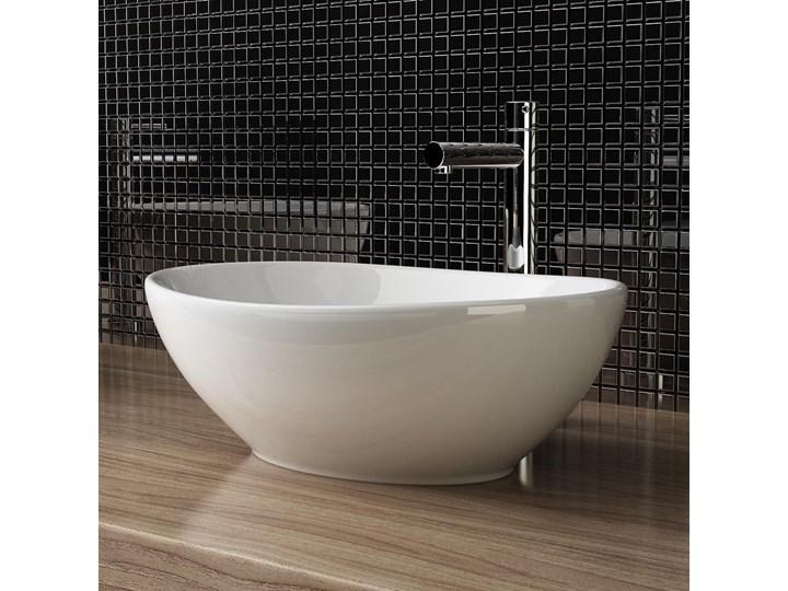 VELDMAN  UMYWALKA CERAMICZNA NABLATOWA VERA Kategoria Umywalki Szerokość 41 cm Meblowe Szerokość 45 cm Nablatowe Ceramika Owalne Kolor Biały