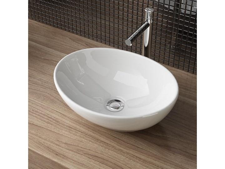 VELDMAN  UMYWALKA CERAMICZNA NABLATOWA VERA Owalne Kategoria Umywalki Ceramika Szerokość 45 cm Szerokość 41 cm Nablatowe Meblowe Kolor Biały