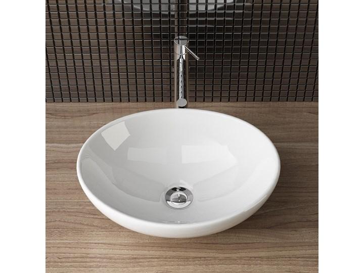 VELDMAN  UMYWALKA CERAMICZNA NABLATOWA VERA Nablatowe Kategoria Umywalki Szerokość 45 cm Owalne Ceramika Szerokość 41 cm Meblowe Kolor Biały