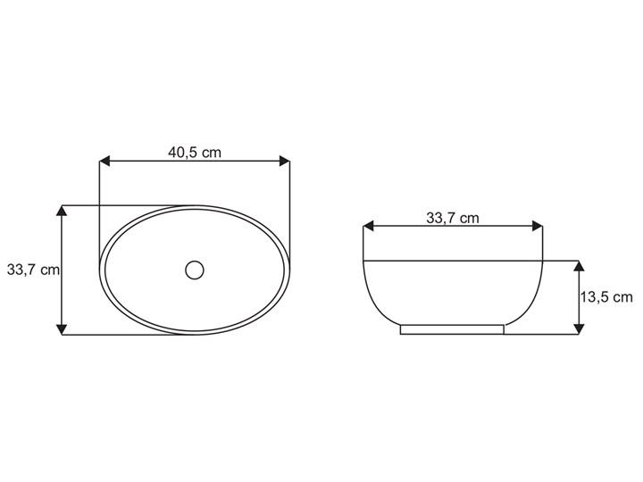 VELDMAN  UMYWALKA CERAMICZNA NABLATOWA VERA Meblowe Nablatowe Ceramika Owalne Kategoria Umywalki Szerokość 45 cm Szerokość 41 cm Kolor Biały