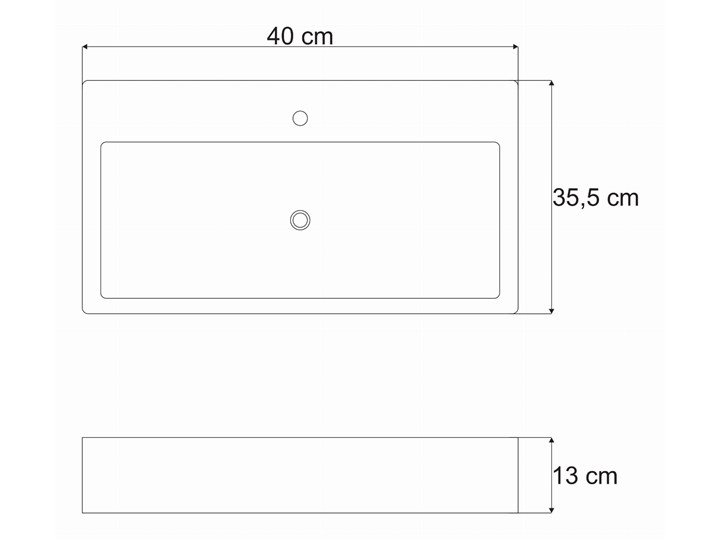 VELDMAN UMYWALKA NABLATOWA METRO Meblowe Ceramika Szerokość 50 cm Nablatowe Kategoria Umywalki