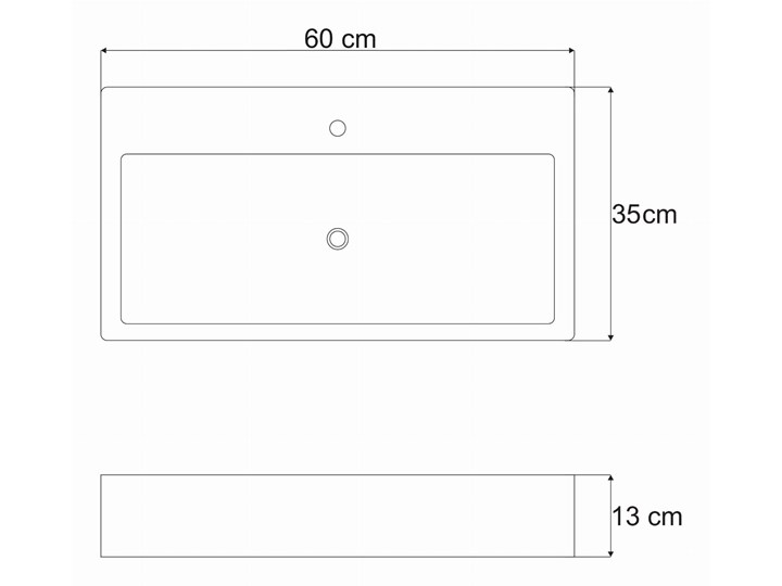VELDMAN UMYWALKA NABLATOWA METRO Szerokość 50 cm Meblowe Ceramika Nablatowe Kategoria Umywalki