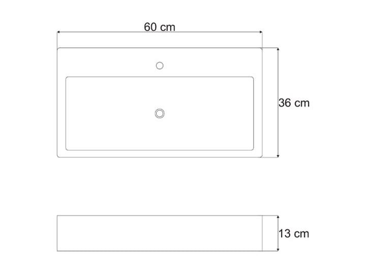 VELDMAN UMYWALKA NABLATOWA QUADRO Szerokość 60 cm Ceramika Meblowe Nablatowe Kategoria Umywalki
