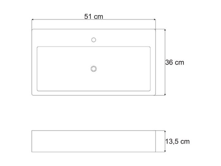 VELDMAN UMYWALKA NABLATOWA QUADRO Meblowe Nablatowe Ceramika Szerokość 60 cm Kategoria Umywalki