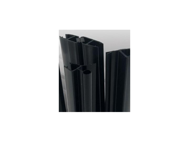 VELDMAN KABINA 8MM CZARNE PROFILE B163 ROZMIAR DO WYBORU Wysokość 195 cm Kwadratowa Kolor Czarny