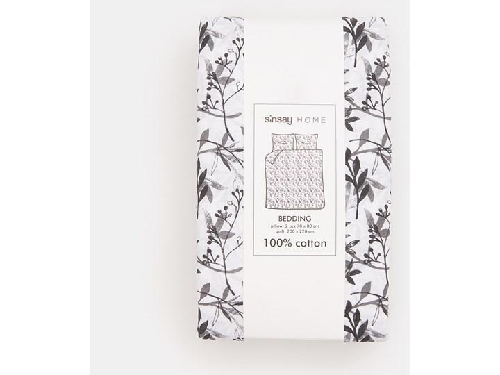 Sinsay - Bawełniany komplet pościeli - Biały Kategoria Komplety pościeli Bawełna 200x220 cm Kolor Czarny