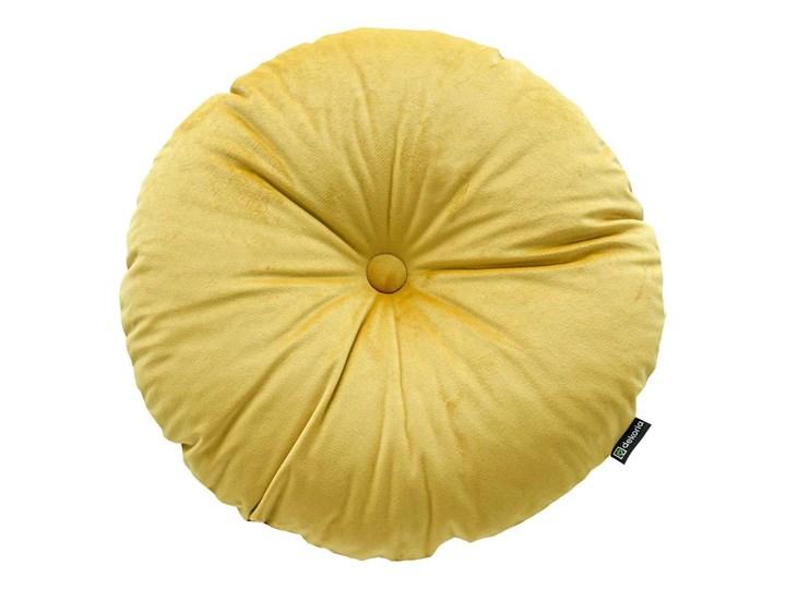 Poduszka okrągła Velvet z guzikiem, oliwkowy zielony, ⌀37 cm, Velvet