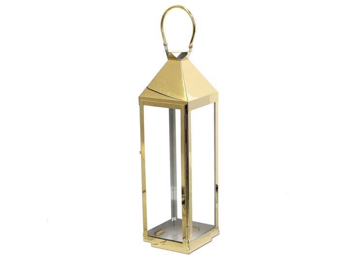 LATARNIA CHROMOWANA METALOWA ZŁOTY CHROM 60CM Świeca Lampion Kategoria Świeczniki i świece