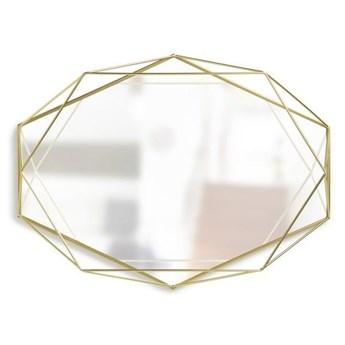 Lustro Prisma Brass złote