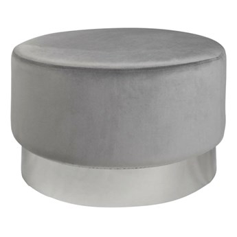 Szaro-srebrna pufa tapicerowana do salonu i sypialni - Kobar