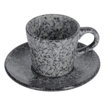 Filizanka do kawy  z podstawkiem Airena czarna ceramiczna