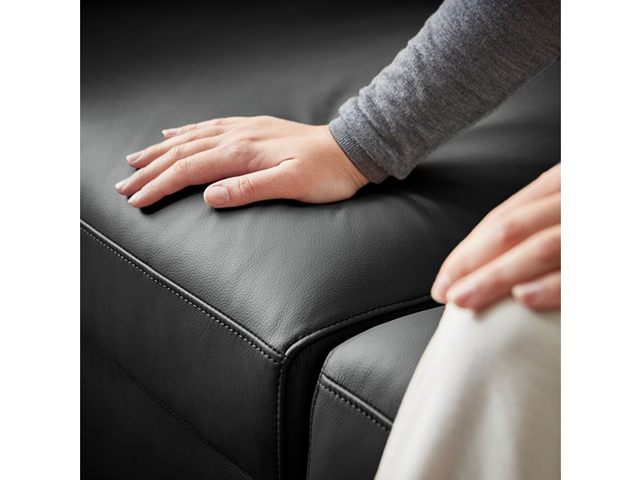 IKEA VIMLE Narożna sofa rozkł. 5o z szezl, Grann/Bomstad czarny, Wysokość łóżka: 53 cm Funkcje Z funkcją spania Kategoria Narożniki