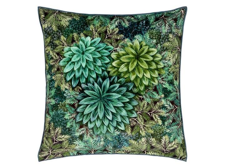 Poduszka dekoracyjna Designers Guild Madhya Azure Len 55x55 cm Wzór Roślinny