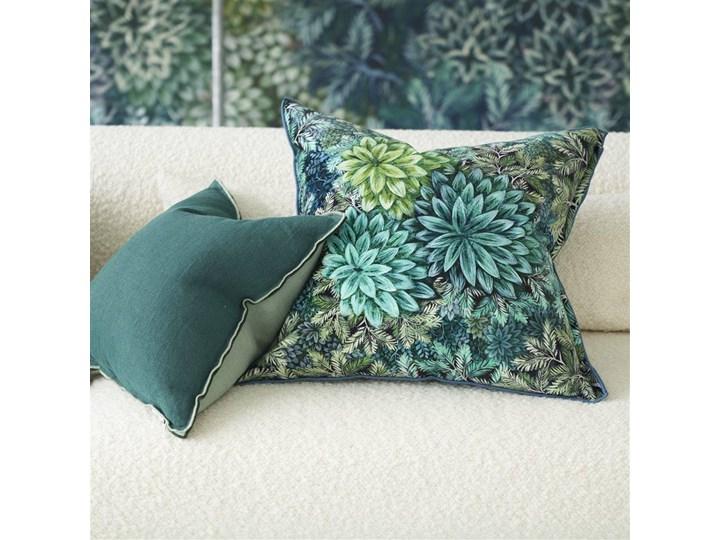 Poduszka dekoracyjna Designers Guild Madhya Azure 55x55 cm Len Wzór Roślinny Kategoria Poduszki i poszewki dekoracyjne