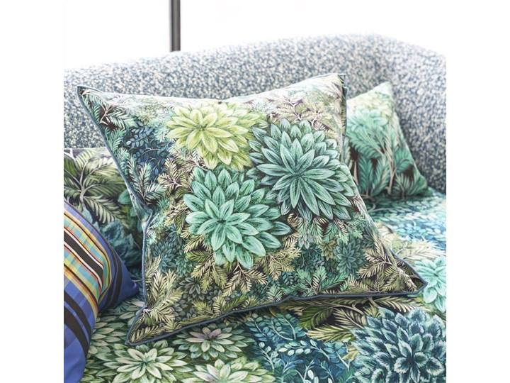 Poduszka dekoracyjna Designers Guild Madhya Azure Len 55x55 cm Kategoria Poduszki i poszewki dekoracyjne Wzór Roślinny
