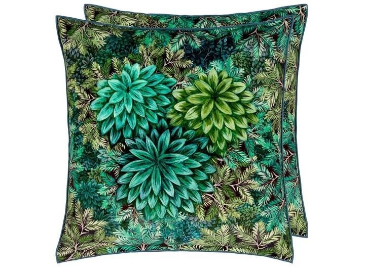 Poduszka dekoracyjna Designers Guild Madhya Azure 55x55 cm Len Kategoria Poduszki i poszewki dekoracyjne Wzór Roślinny