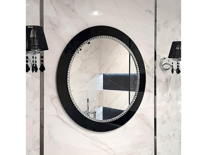 Lustro Bracelet – łazienkowe glamour czarne Ścienne Prostokątne Okrągłe Pomieszczenie Łazienka Lustro z ramą Pomieszczenie Sypialnia