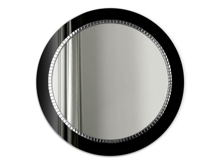 Lustro Bracelet – łazienkowe glamour czarne Ścienne Okrągłe Lustro z ramą Prostokątne Pomieszczenie Salon