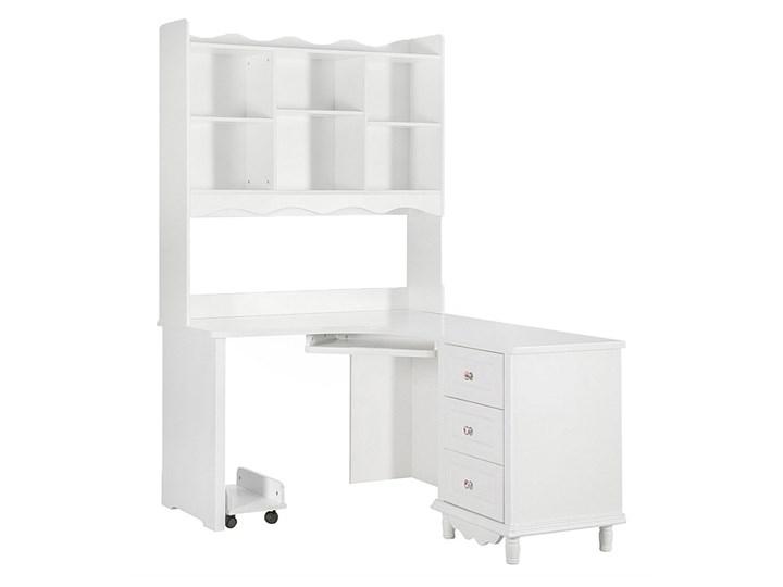 Narożne białe biurko z nadstawką Victoria813 Biurko narożne Płyta MDF Szerokość 150 cm Pomieszczenie Biuro